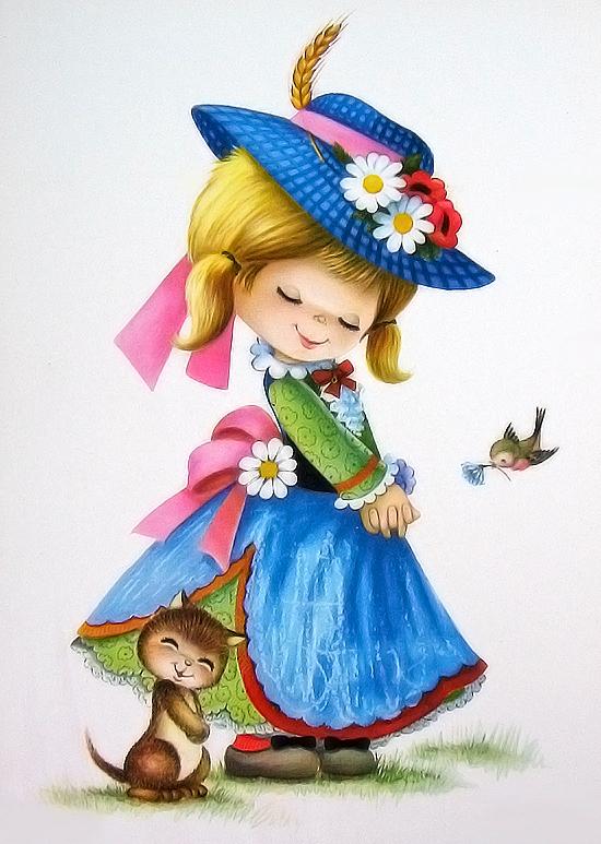 Рисунок с девочкой в шляпе