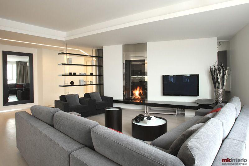 Дизайн гостиной 40 кв.м фото