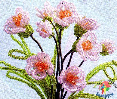 Схемы деревья цветы из бисера