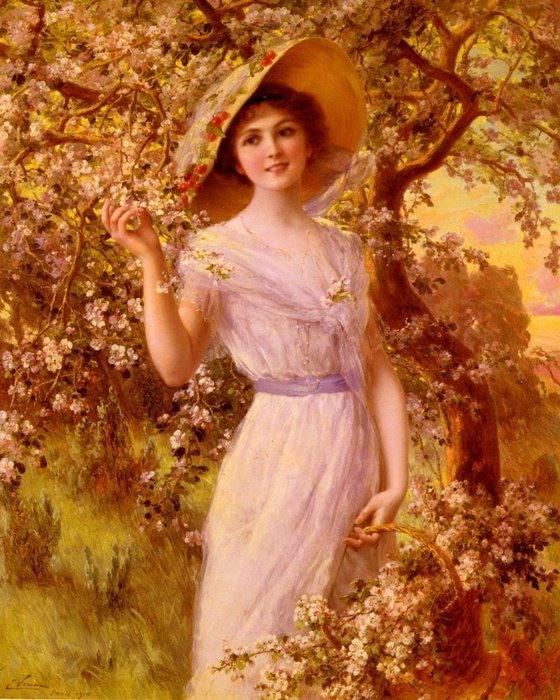 Дама с цветами картинки 7