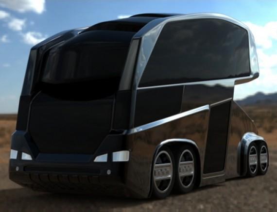 футуристический автобус