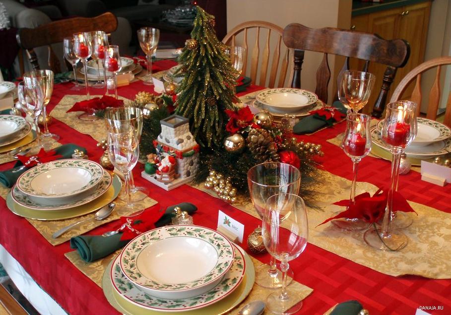 Декор праздничного стола своими руками