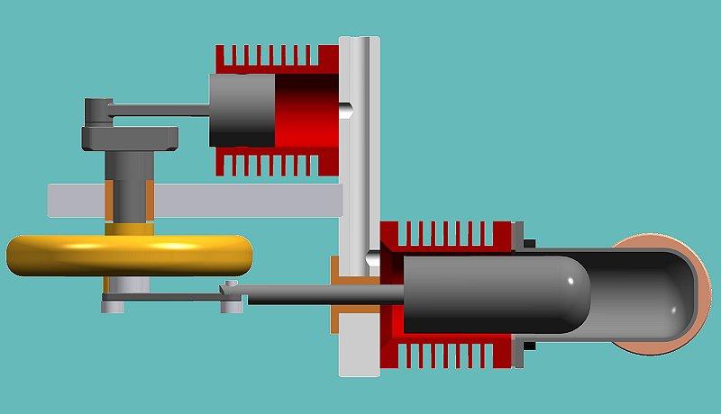 Схема двигателя Стирлинга