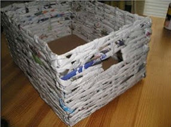 Как сделать коробок из газеты 45
