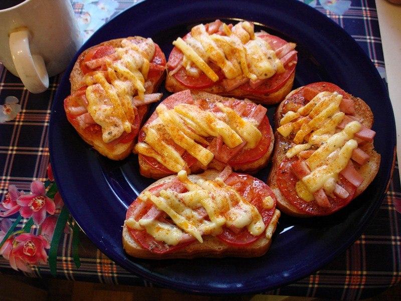 Завтрак горячие бутерброды рецепты