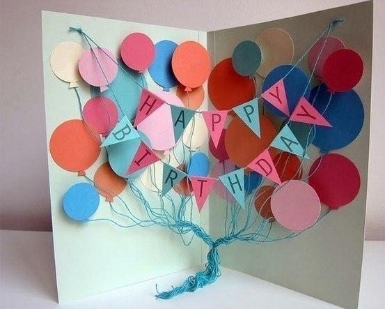 Открытки маме на день рождения своими руками