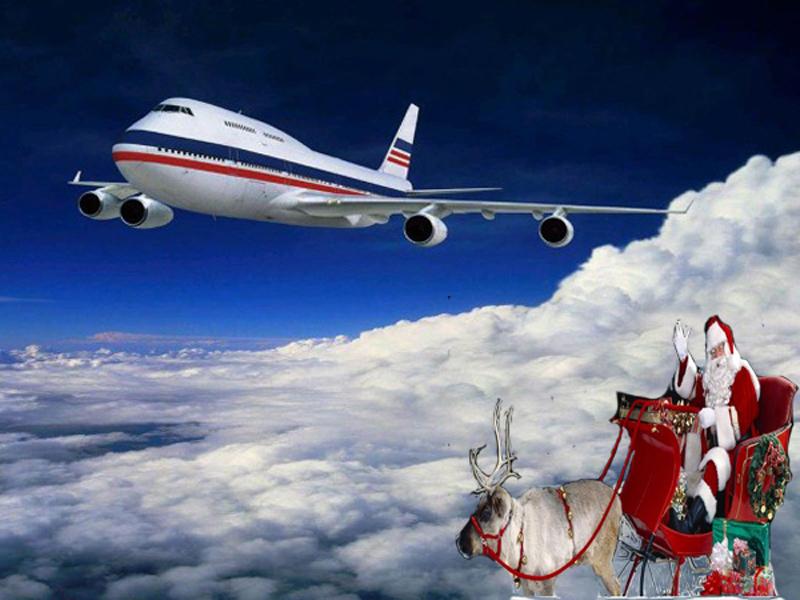 Открытка новый год авиация