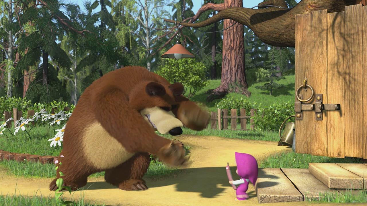 маша и медведь первая встреча гифка родители