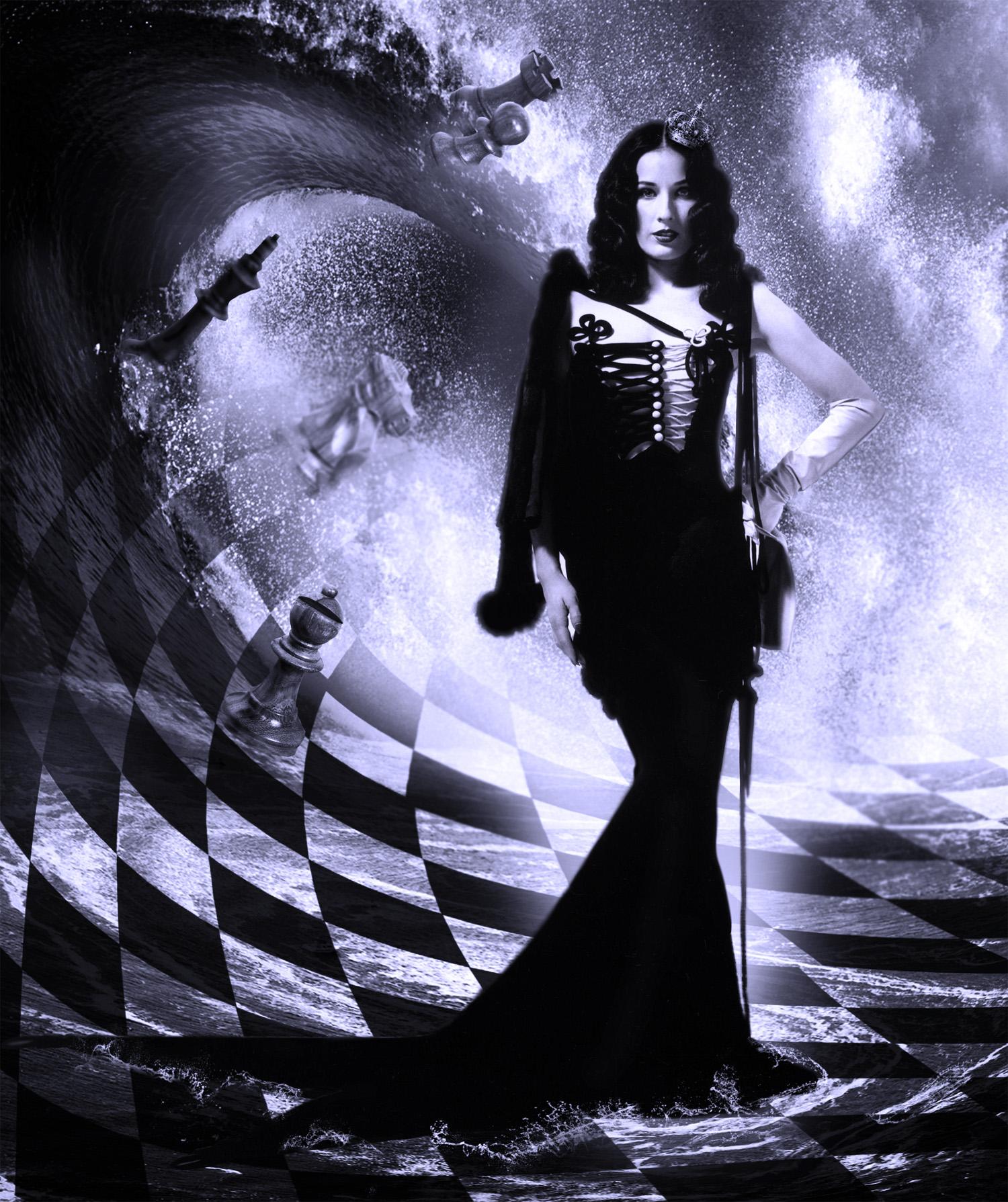 картинка черная королева всей территории было