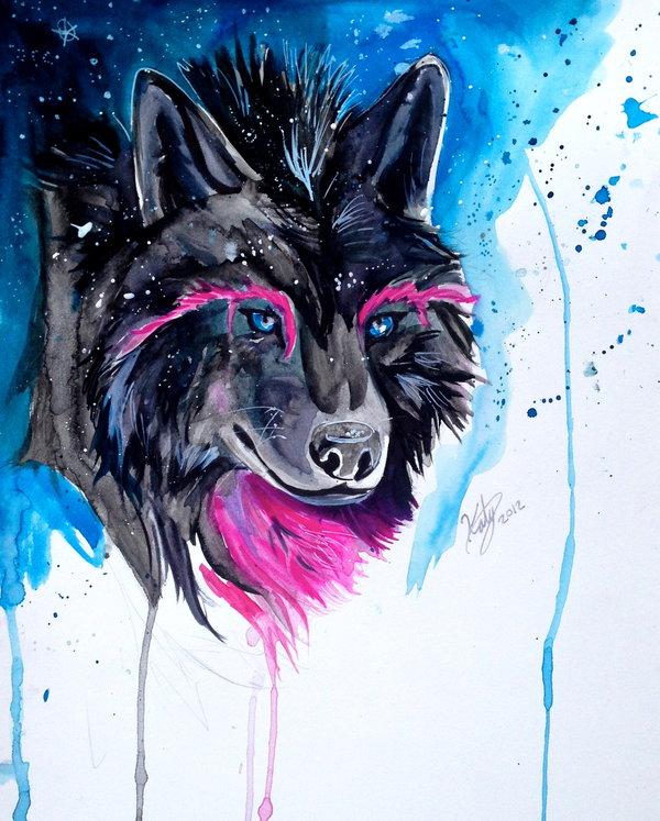 коже, цветные картинки волки дорожной